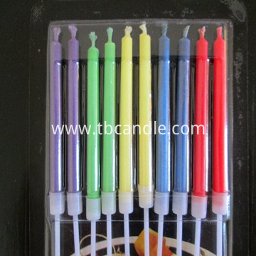 10pcs colored flame cake candle