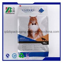 OEM Manufacturer Quad Seal Plastic Cat Litter Packaging Bag