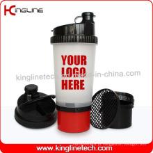 New Design 700ml Garrafa protetora de proteína protetora com compartimento na parte inferior e Pillbox na tampa, livre de BPA (KL-7001)