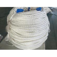 Corde d'amarrage à 3 brins Corde d'amarrage en fibre de polyester