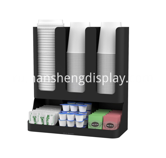 Upright Coffee Condiment Cups Organizer