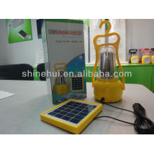 Fonte verde com carregador de telefone levou lanterna camping levou lanterna solar lâmpada