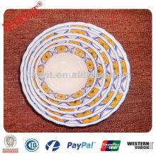Servicios de cena baratos Servilletas de porcelana / Gold Edge Ensaladera de cerámica Bowl / Soup Bowls