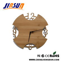 Simple Round Shape Wall Clock Bamboo