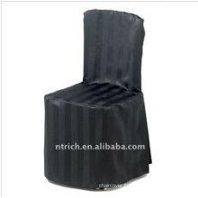 Couverture de chaise de rayure élégante visa pour mariage et banquet