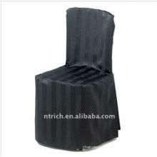 Elegant visa stripe chair cover for banquet and wedding