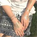 Autocollants temporaires imperméables de tatouage de scintillement de paillettes
