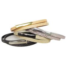 Gold Buckle Fashion Narrow PU Belt (KY3441)