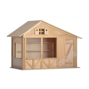 Best Price for for Dollhouse Room Box Assembled Wooden dollhouse room box in barewood for DIY export to Netherlands Factories