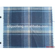 Tejido de franela teñido 100% algodón cómodo y suave