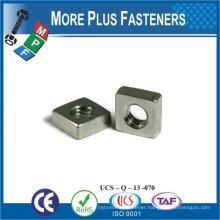 M8-1.25 Class 5 Zinc Finish Steel Regular Square Nut DIN 557 DIN 562