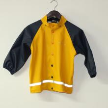 Sólido amarillo PU chubasquero reflectante para niños/bebé