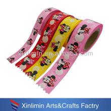 Custom new design printed personalized logo ribbon for kids