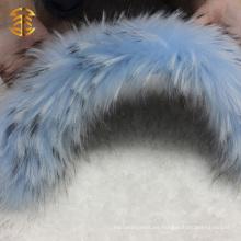 Guarnición de la piel del perro del mapache de la alta calidad del precio de fábrica
