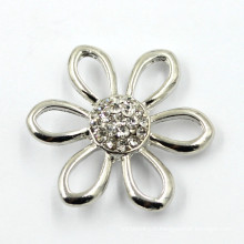 Boucles d'oreilles en forme de fleur en forme de strass boutons en métal pour décoration