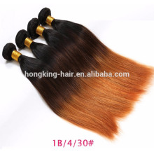 ombre 3 tone 8A Brazilian hair factory price 100% human hair weft virgin hair weavng