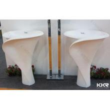 Renewable And Durable Bathroom Pedestal Sink Freestanding B