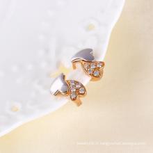 Bijoux fantaisie et boucles d'oreille en zircon avec plaqué or Muticolor (24281)