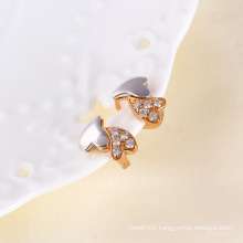 Fashion Jewelry and Zircon Earring with Muticolor Gold Plated (24281)