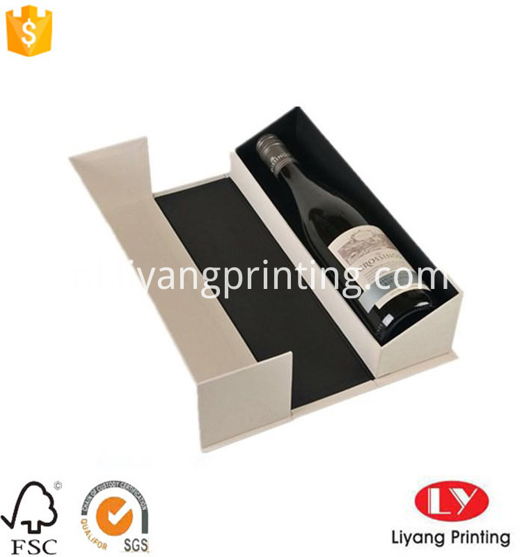 Luxury modern creative cardboard box gift box for wine packaging
