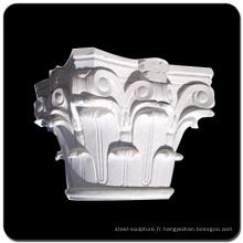 Pilier de pierre naturelle sculptée à la main en pierre corinthienne
