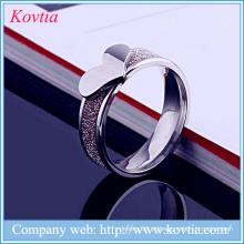 2016 moda dedo anelar pêssego coração anel de aço titanium para meninas bonitas