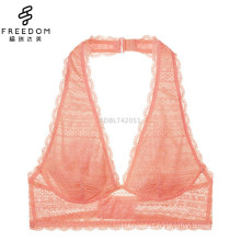 china wolesale and custimozed sexy girls preteen soft lace halter backless bralette underwear bra