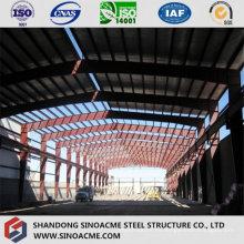 Taller de estructura de acero pesado con grúa