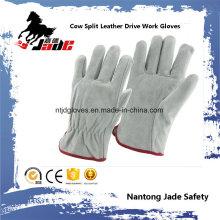 Cow Split Personal Industrial Safety Drivers Luva de mão de trabalho de couro