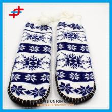 Зимние трикотажные нечеткие толстые домашние теплые детские противоскользящие носки
