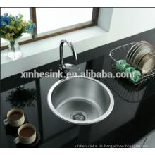 Runde Single Bowl topmount Edelstahl Bar Waschbecken Küche Waschbecken