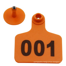 Animal Identification Device Good Thermoplastic Cattle Ear Tag with number