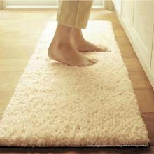 моющийся длинный ворс бежевая кухня коврики