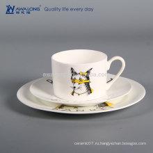 3шт круглой формы Дешевые равнине белой керамической плиты, кости Китай Ресторан посуда