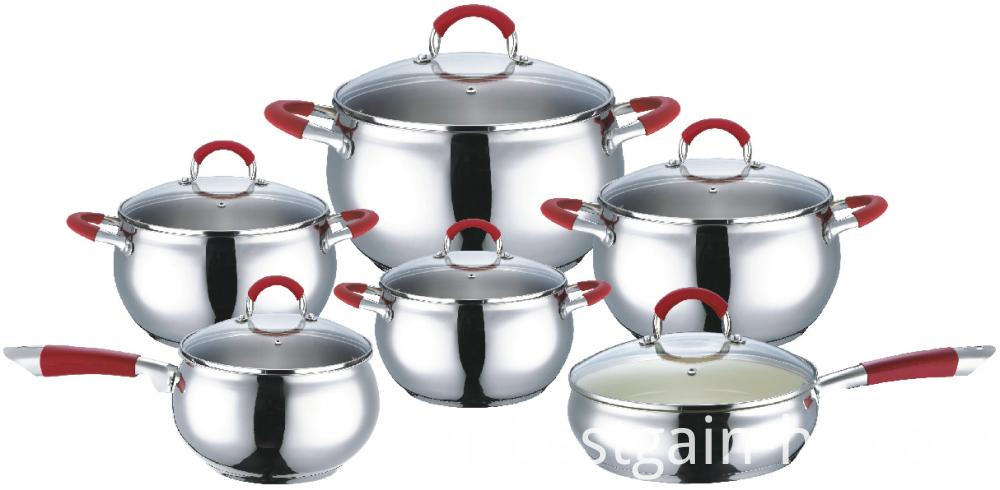 12pieces Stainless Steel Cookware Set