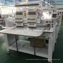Dois cabeça 9/12/15 agulhas alemanha cintos máquina de bordar para o tampão liso t-shirt da máquina do bordado preço