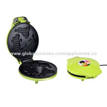 Electric Waffle Makers, 4 Round Plates with Auto-temperature Control, OEM/ODM Orders are Welcome