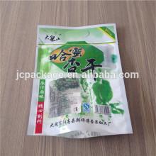 snack food plastic bag/nut printing plastic bag OEM accept