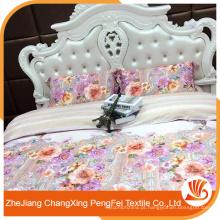 Confortável 100% poliéster novo design linda folha de cama conjunto de luxo casa têxtil
