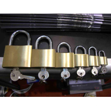 Brass Padlock (wire drawing finished)