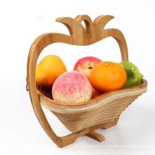 Cesta de madera de alta calidad al por mayor de la manzana