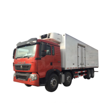 Chinese Sinotruck Howo perishable food delivery truck refrigerator truck freezer box