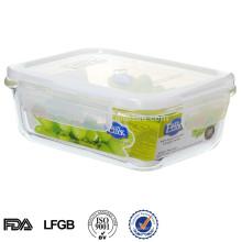 recipientes de armazenamento de vidro hermético do alimento do easylock para o alimento