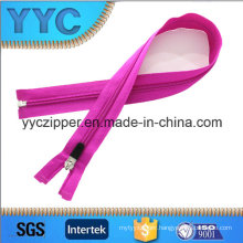 Colorful Nylon O/E Zipper with Iron up and Bottom Stopper