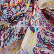 Модная дизайнерская цифровая печать шелковой ткани