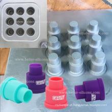 Moldagem por compressão de processo de borracha para produtos de silicone