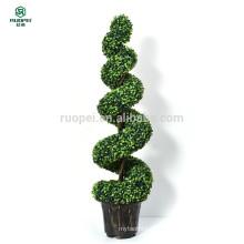 Grande planta artificial artificial espiral da árvore do Topiary em pasta
