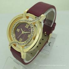 Cheap pulseira de couro OEM Quatz Womans pulseira de relógio