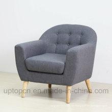 Freizeit Custom Möbel Holzrahmen Leder Einzel Sofa (SP-HC601)