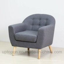 Ocio personalizados muebles de madera de marco de cuero único sofá (SP-HC601)